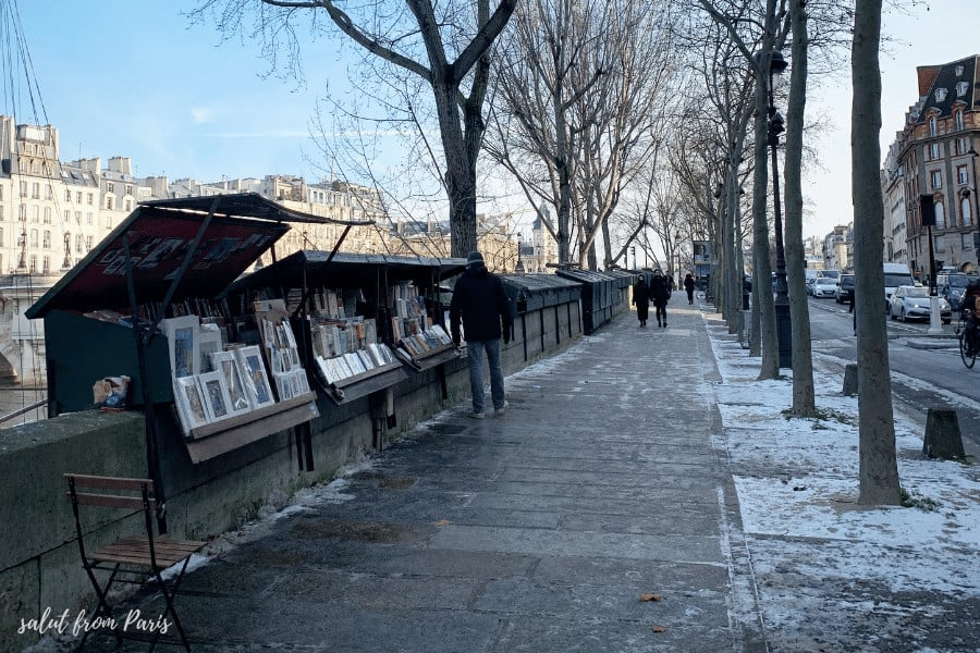 things to do in paris winter: a walk along the Seine in Winter in Paris. Just know that Paris winter night falls early and gets pretty chill