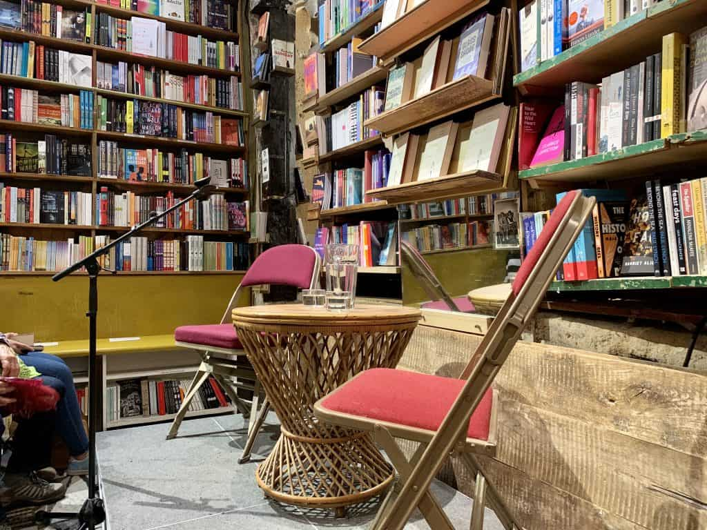 Shakespeare and Company - one of the few english american bookstores in Paris- not as much of a hidden places paris but a good adress