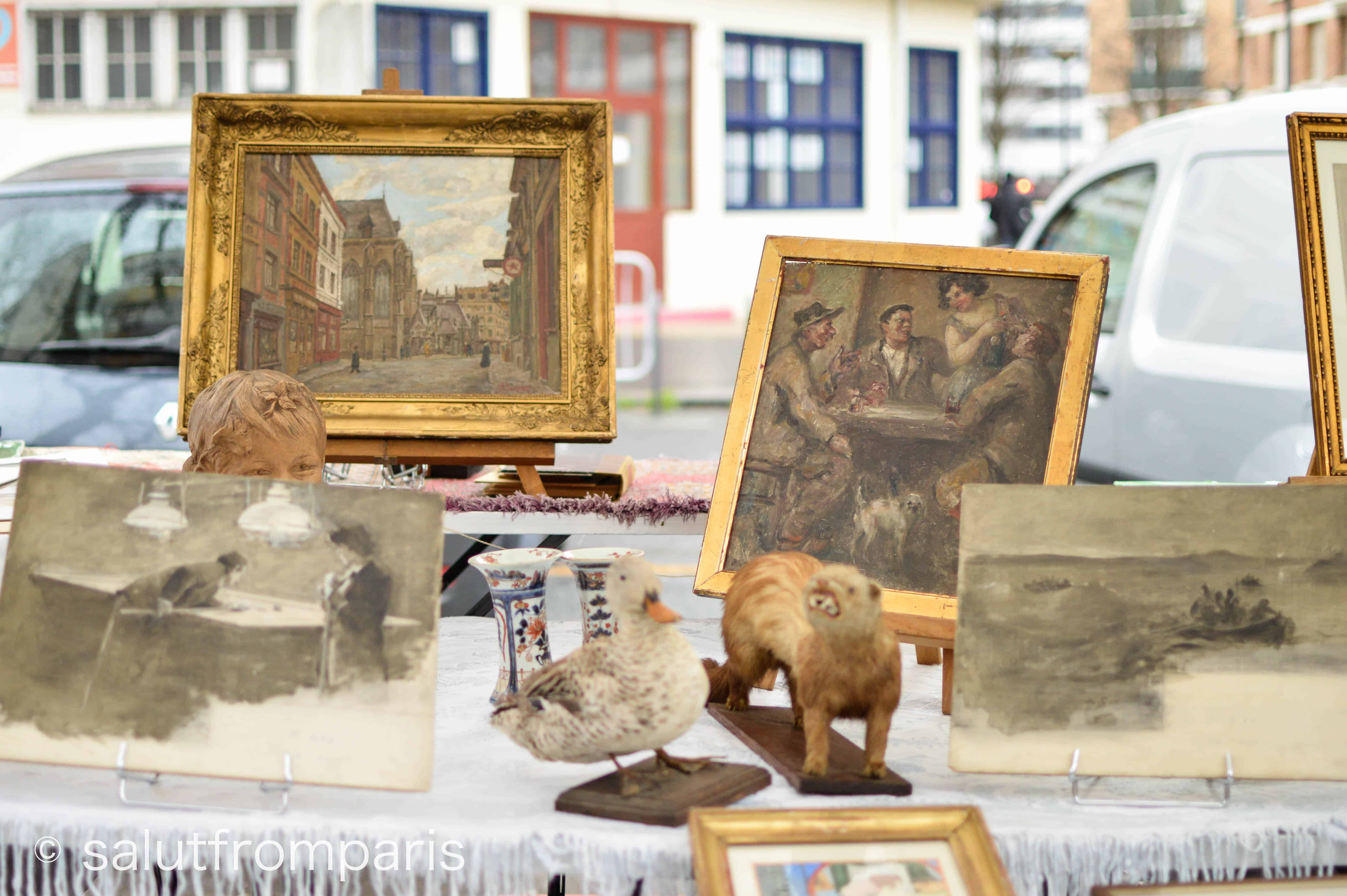The Puce de Vanves offers all sorts of antique and vintage goods. Head to Porte de Vanves Paris to find antique items