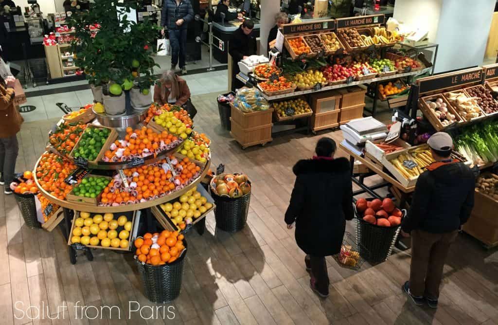 The basement floor of the Galeries Lafayette holds a grocery store