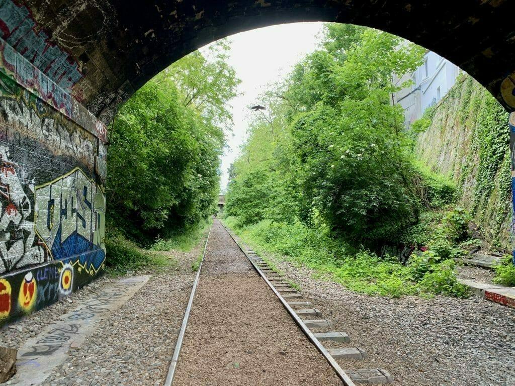Petite Ceinture in the 14th - abandoned railways in Paris