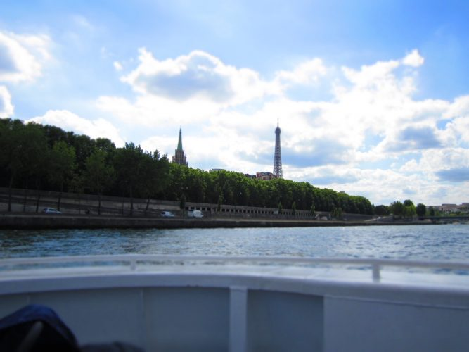 Take a Seine River Boat tour at night or a Seine Dinner Cruise you even can take a Seine Lunch Cruise .. it