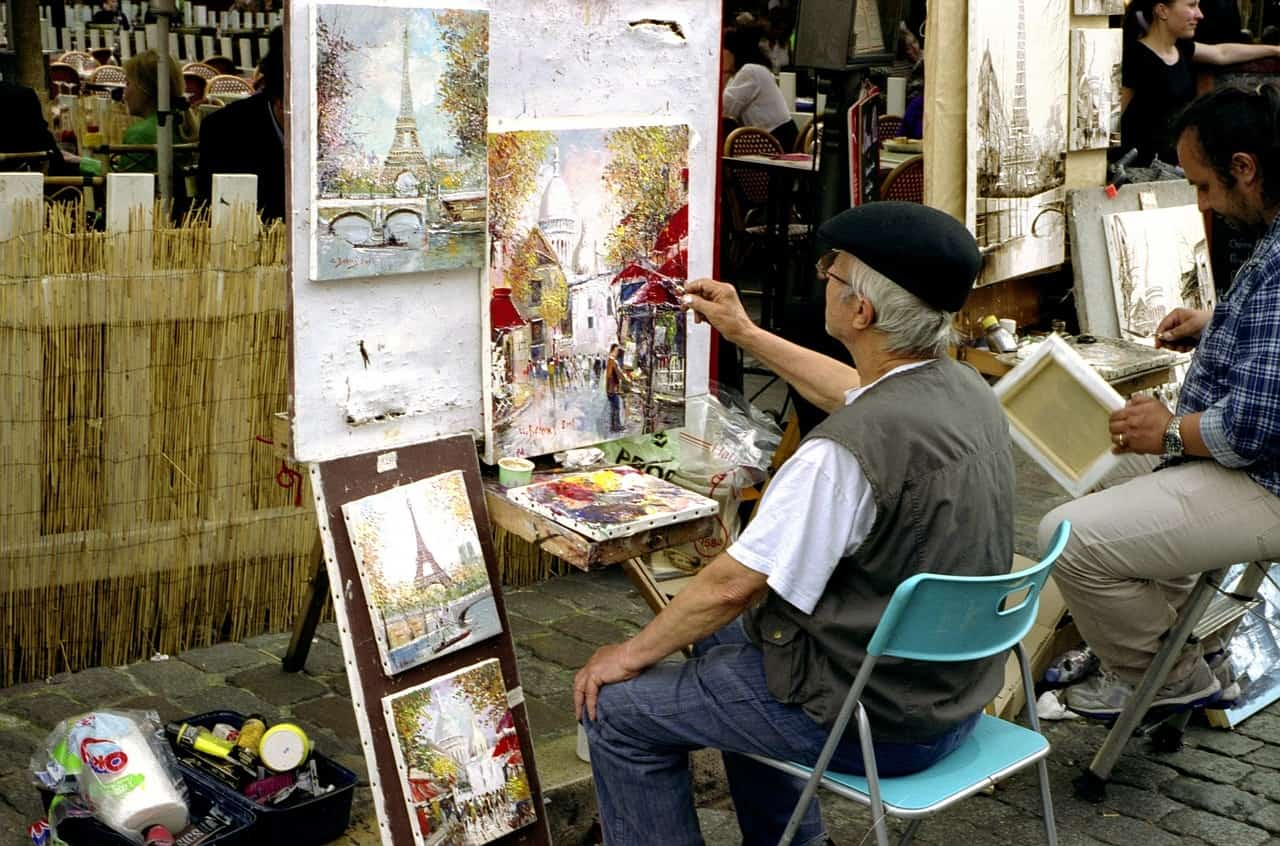 If you wonder what things to see in Paris in 3 days, the painters at Place du Tertre should be on your list