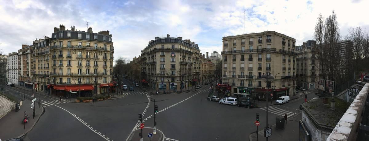 view from le Petite Ceinture on Balard - Paris - secret Paris - off beat Paris - secret gems of Paris