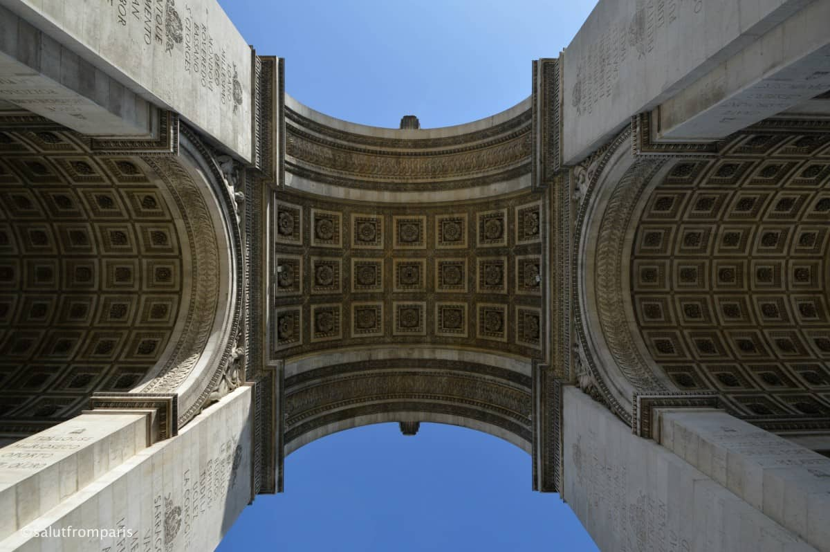 The Arc de Triomphe is an imporant memorial for the French Revolution. It is also starting point of the military parades on the 14th of July - Bastille day