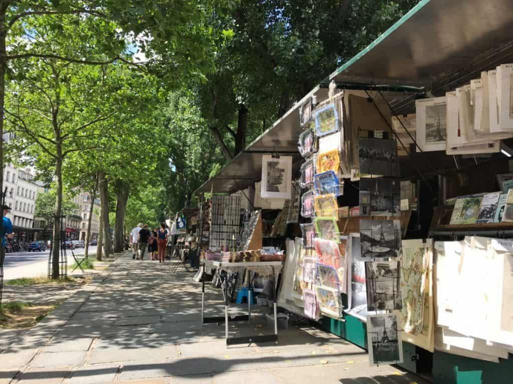 The Banks of the River Seine are a wonderful spot for a walk - and for souvenir and book shopping!