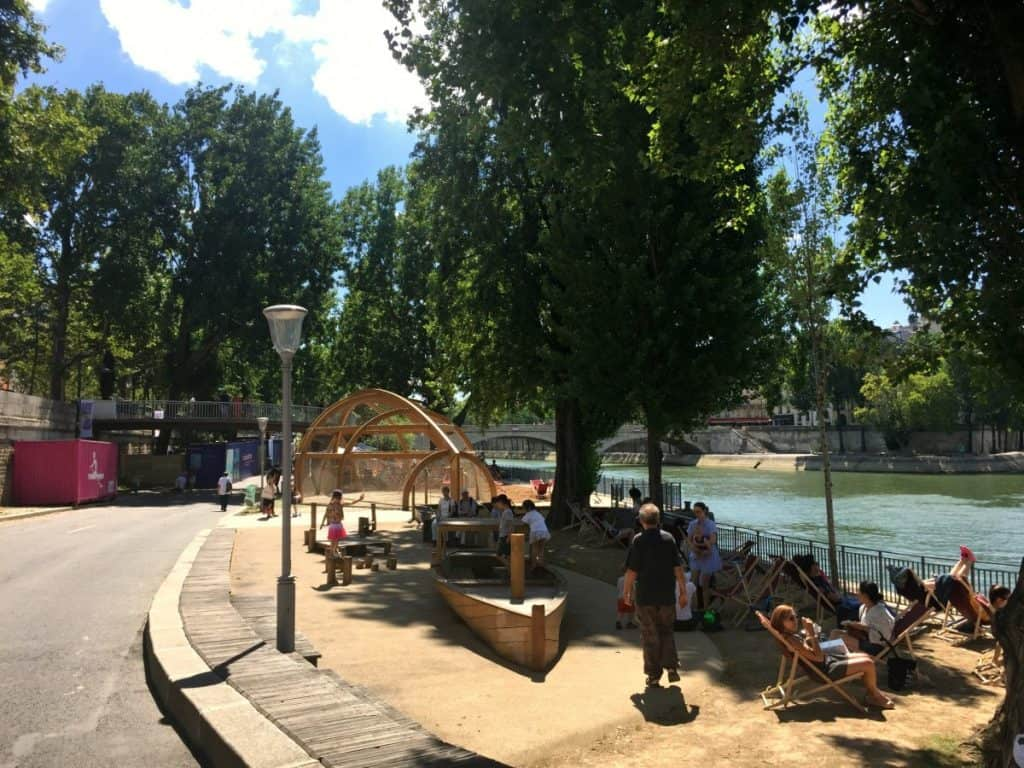 On of the nicest playgrounds in Paris - Paris Plage for KIds