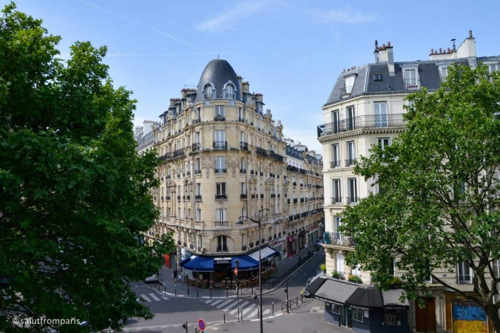 view from the Coulé Verte - a spot you shouldn't be missing if you are looking for hidden places in Paris
