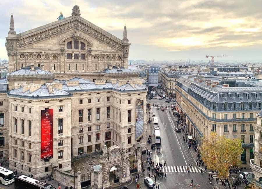 view from the Lafayette over the Opéra Garnier
