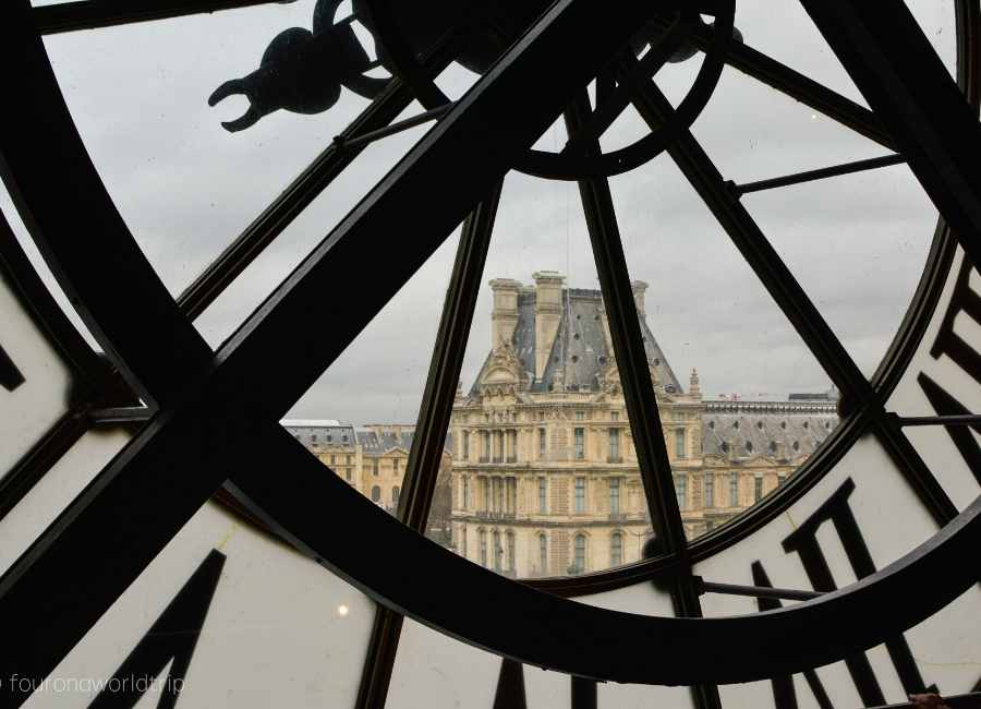 View from Musée d'Orsay to the Louvre