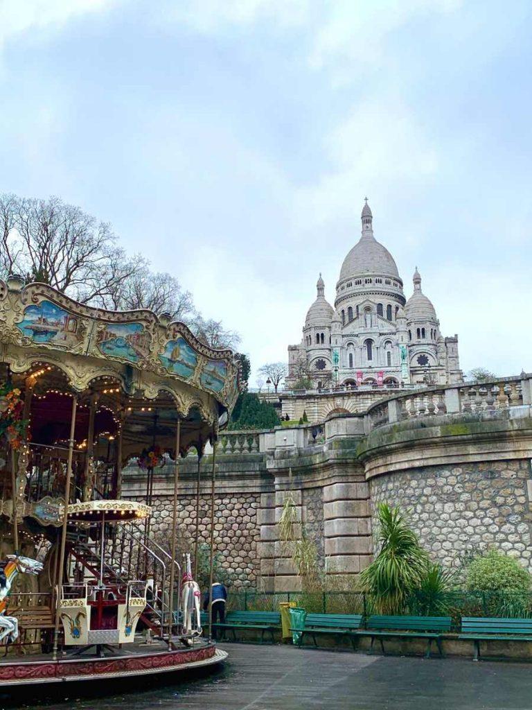 Sacre Coeur with its iconic white cupolas - Paris view points