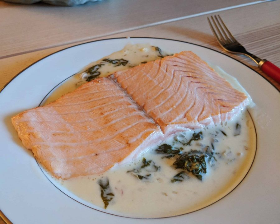one of the best  food paris - Salmon