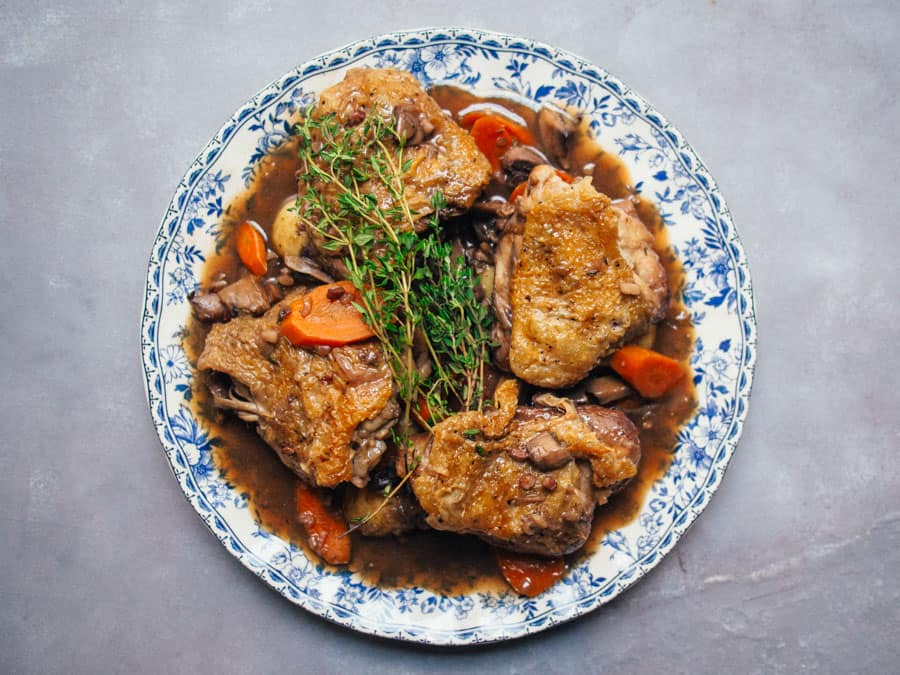 a coq au vin should be on your list if you search traditional french food in Paris,