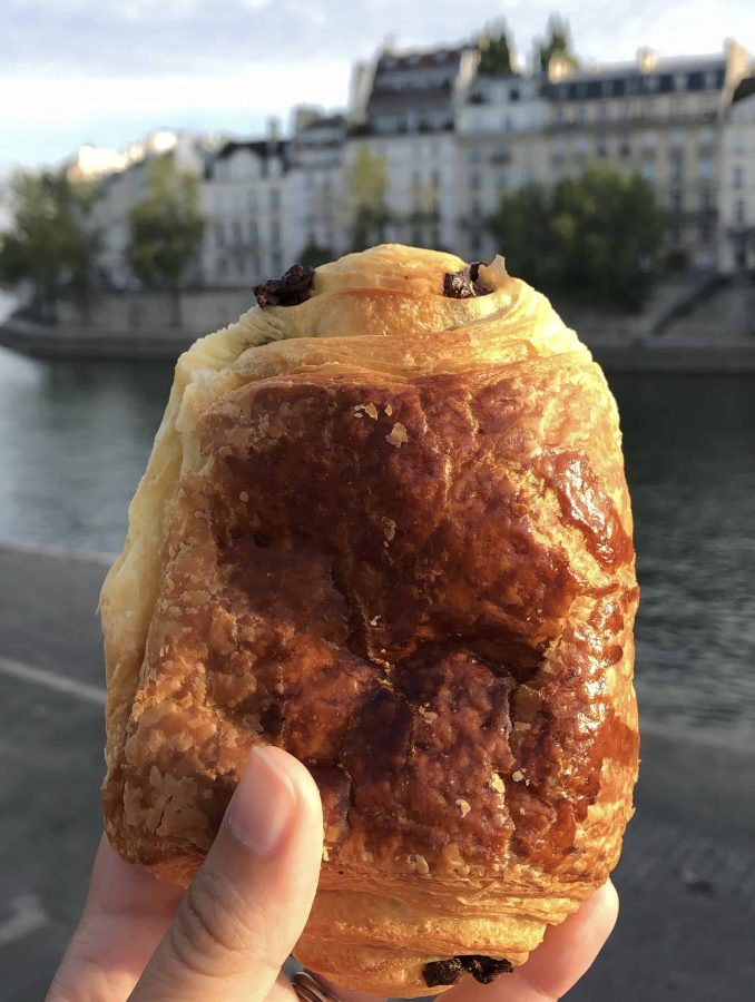 one thing you have to try in Paris, there's nothing better than a fresh pain au chocolat