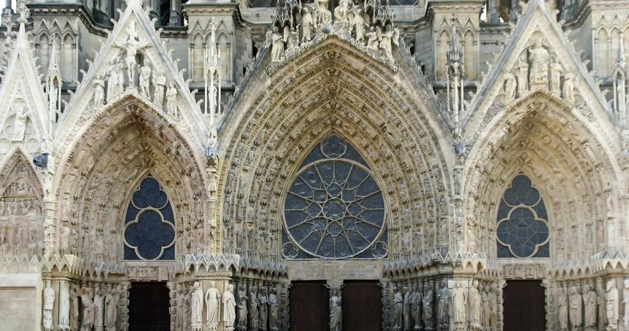 The cathedral of Reims - just a few minutes from the station if you take the Paris to Champagne Train