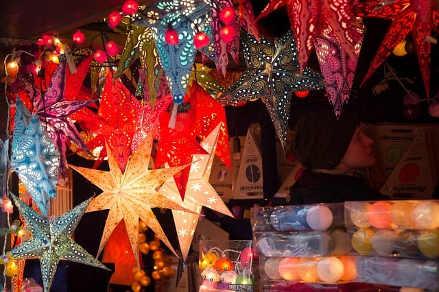 The Christmas markets are good places to visit in Paris during Christmas