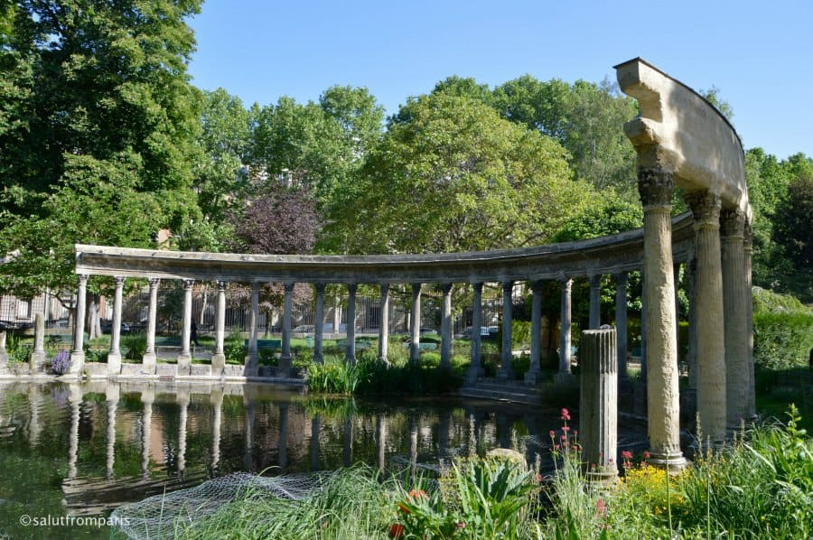 Paris in Spring - visit the parks and see the blossoms. Parc Monceau is one of the nicest park in Paris