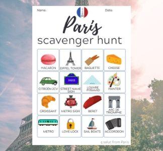 Paris Scavenger hunt