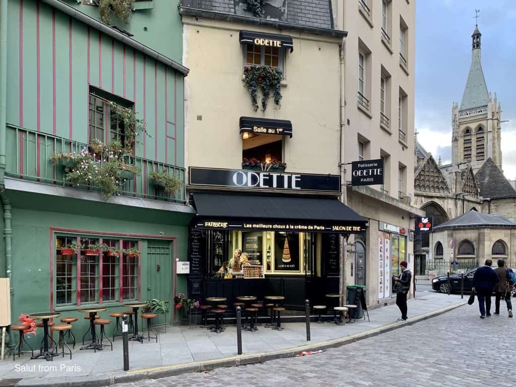 """Rue Galande and the famous patisserie """"Odette"""""""