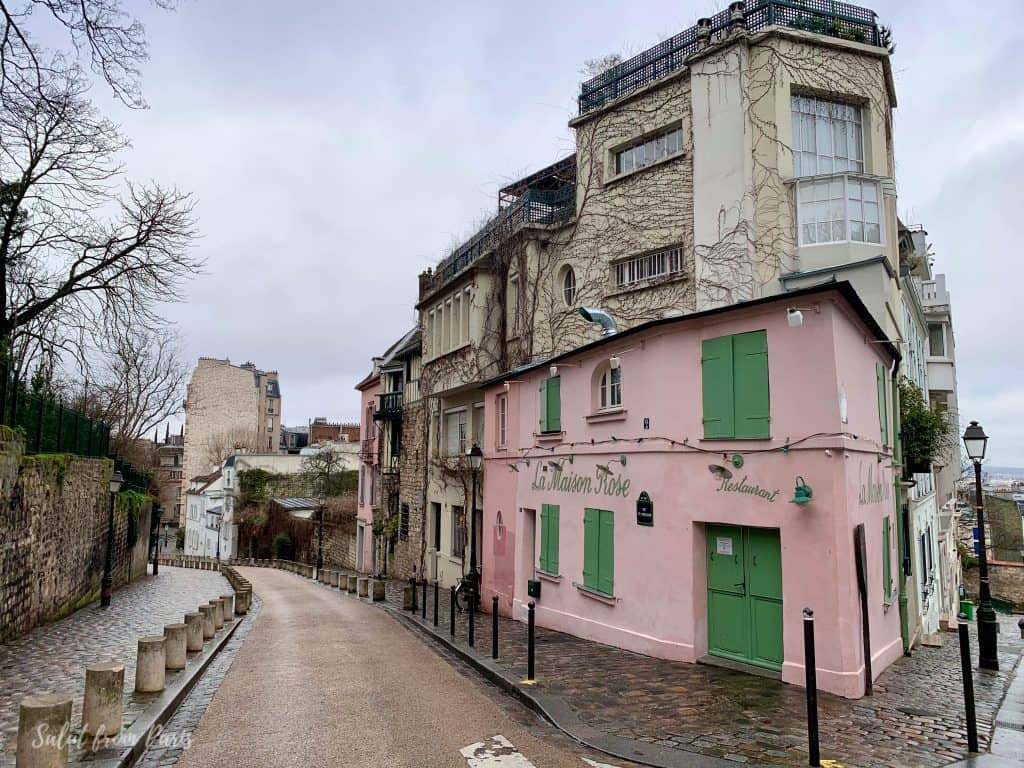 Maison Rose - one of the filming locations of Emily in Paris - emily in paris montmartre. Don't miss it if you are looking for emily in paris locations restaurants