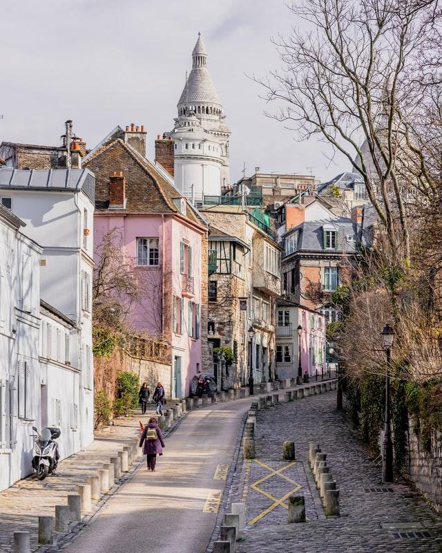 Rue de l'Abreuvoir - supposedly the nicest street in Paris and one of the prettiest hidden spots paris