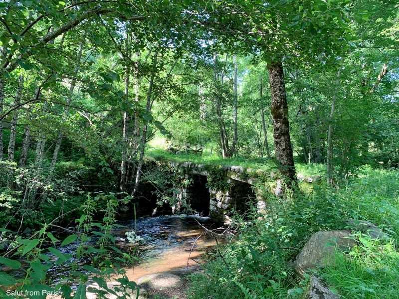the old roman bridge in Laguiole