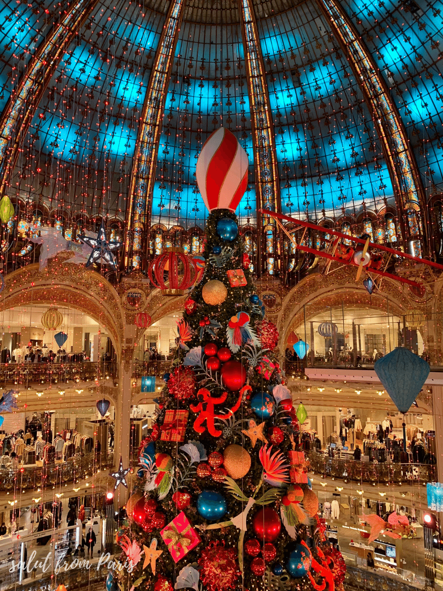 Christmas at The Galerie Lafayette in Paris in December