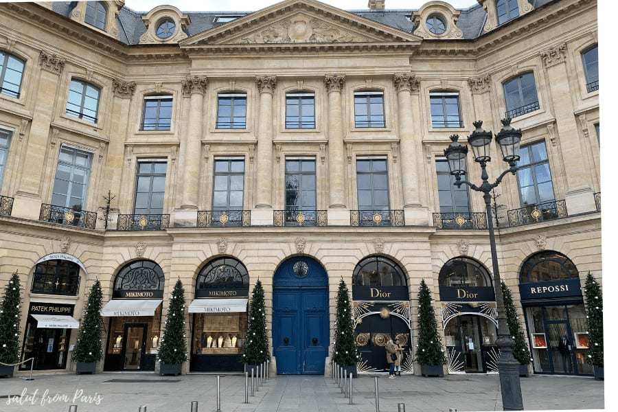 Luxory shopping in Paris - Paris in Winter, decorations at Place Vendome,