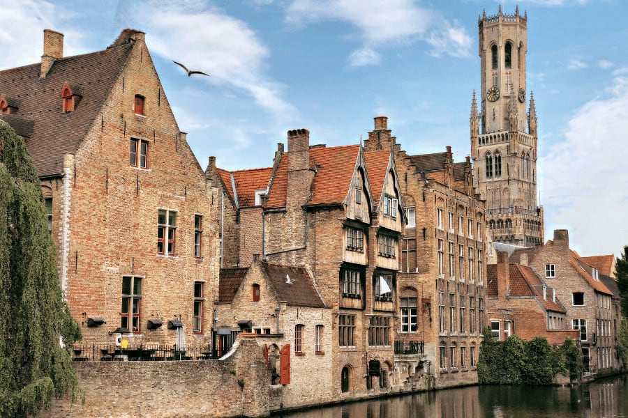 One of the nicest train trips from Paris is to Bruges, the Venice of the North a